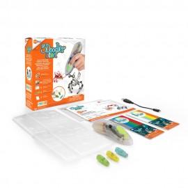 Creion 3D 3Doodler Start pt copii si kit MicroRobotica HexBug