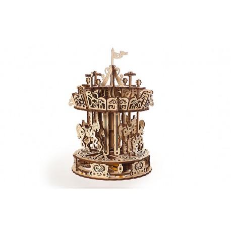 Puzzle mecanic 3D lemn Ugears Carusel