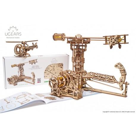 Puzzle mecanic 3D lemn Ugears Aviator