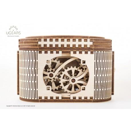 Puzzle mecanic 3D lemn Ugears Cutia de comori